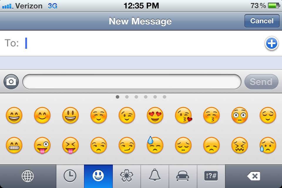 HowTo: Enable emoticons for text messages.