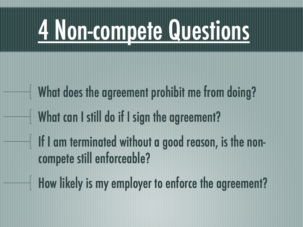What Is A Non Compete Zrom